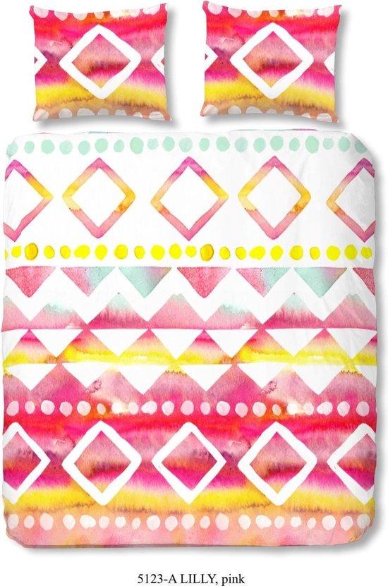 Good Morning Vrolijk Patroon – dekbedovertrek – lits-jumeaux – 240×200/220 – Roze