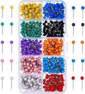 F4B Punaises Voor Prikbord | 500 stuks | 10 kleuren | 15 mm | Duimspijker