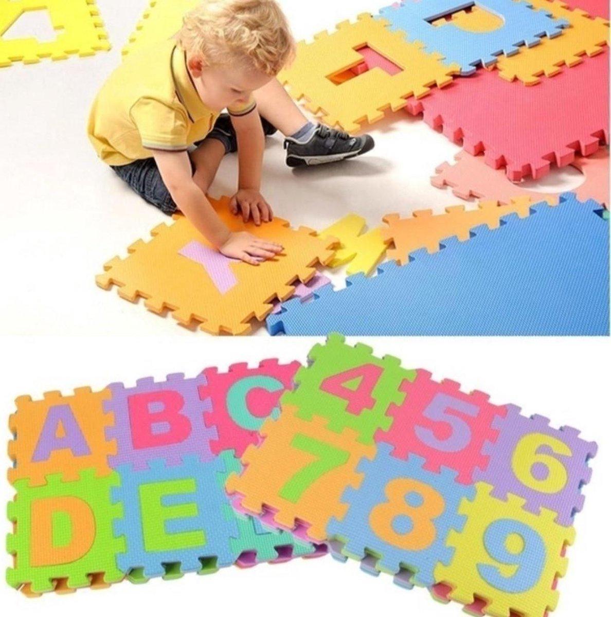 Kiduku - Puzzelmat - speelmat - 72 delige Foamtegels - Zwembadtegels - 86 delig XXL foam