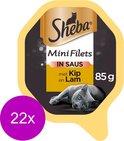 Sheba Mini Filets in Saus Kuipje - Kip & Lam - Kattenvoer - 22 x 85 g