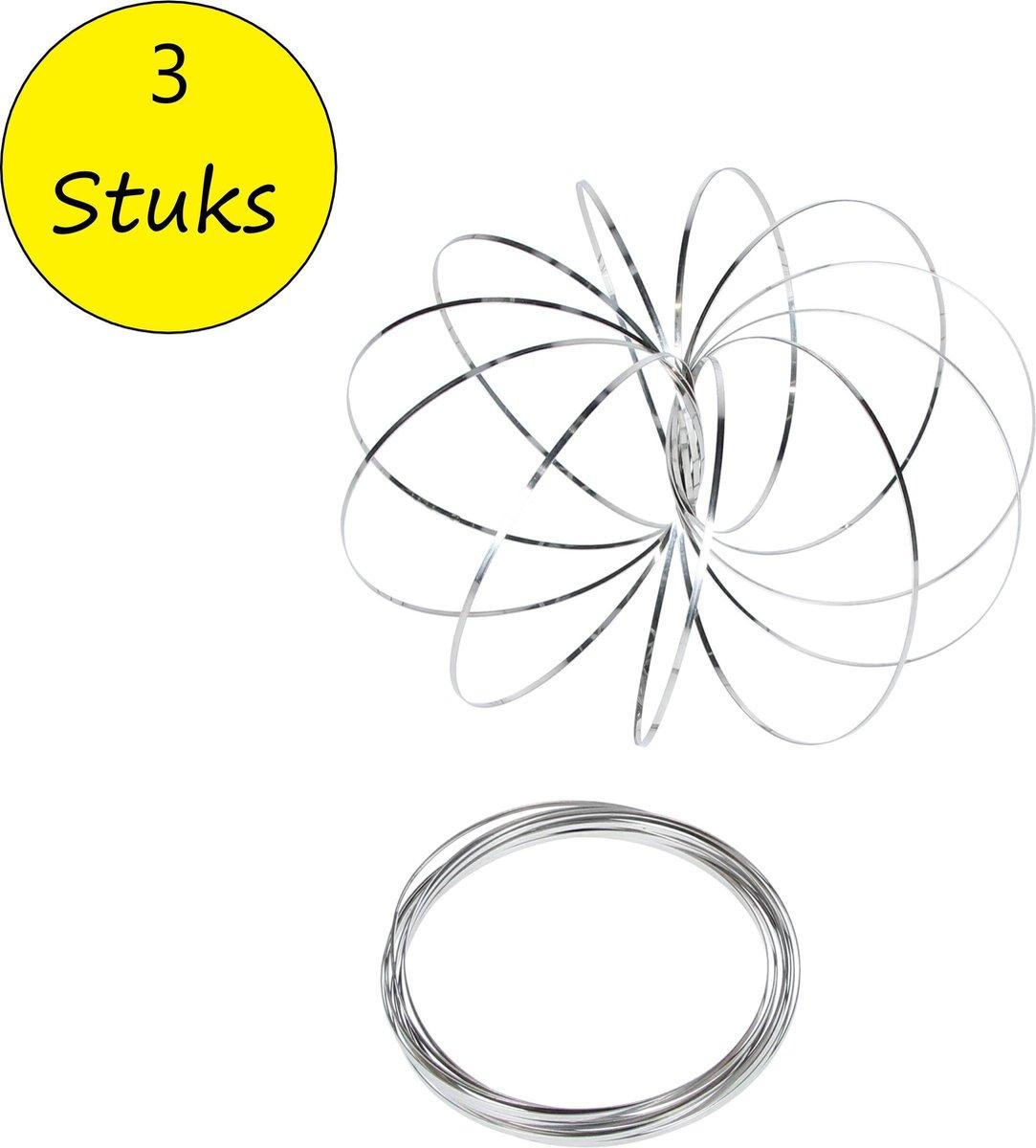 Magic flow ring |Spiraal bloem magische armband | 3D ringen set van 3 stuks 10cm