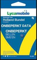 Lycamobile Onbeperkt Bellen in Nederland en Onbeperkt Internet Met EU Roaming