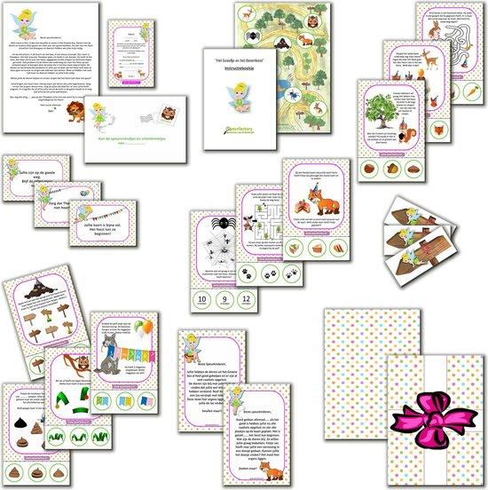 Thumbnail van een extra afbeelding van het spel Speurtocht voor kinderen - Het Boselfje en het dierenfeest  - 4 t/m 6 jaar - kinderfeestje - speurtocht- speurpakket - compleet draaiboek - PRINT ZELF UIT!