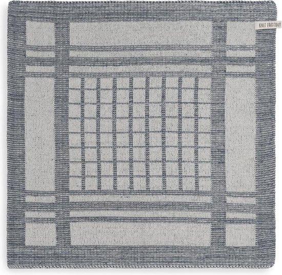 Knit Factory Keukendoek Emma - Ecru/Granit