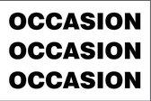 Vlag Occasion - 100 x 150 cm - Glanspolyester