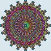 MyHobby Borduurpakket – Mandala 60x60 cm - Aida stof 5,5 kruisjes/cm (14 count)