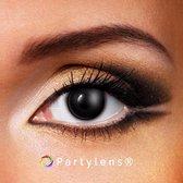 Partylenzen - Black Out - jaarlenzen met lenshouder - kleurlenzen Partylens®