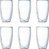 Bodum Pavina Dubbelwandig Glas - 450 ml - 6 stuks