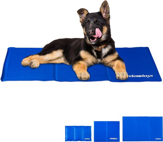 relaxdays koelmat hond - voor honden   katten - verkoelende mat - koeldeken - verkoeling 50 x 90 cm