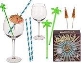 Cocktail glazen set cadeau zomer party summer bbq cocktailglas Gin & Tonic kado