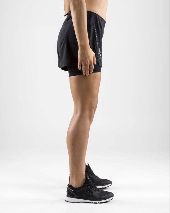 Craft Essential Korte hardloopbroek Dames zwart Maat XS