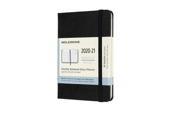 Afbeelding van Moleskine 18 Maanden Agenda - 2020/21 - Maandelijks - Pocket (9x14 cm) - Zwart - Harde Kaft