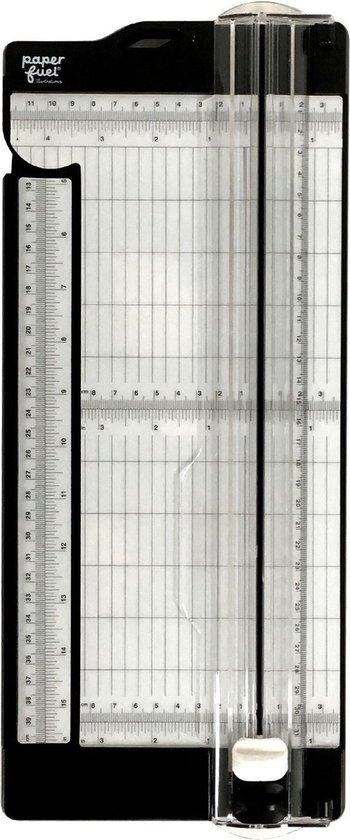Paperfuel Snijmachine, Papiersnijder met Uitklapbare Liniaal 30,5 x 11,4 cm