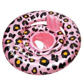 Swim Essentials Baby Float Roze Panterprint 0-1 jaar