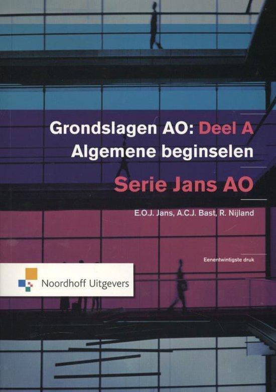 Grondslagen van de administratieve organisatie / deel A Algemene beginselen - E.O.J. Jans |