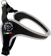 Tre Ponti Fibbia Basic Tuig Zwart&Reflecterend - Hondenharnas - 30 - 40 cm