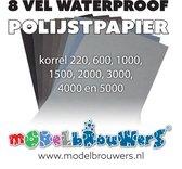 8 vel waterproof polijstpapier