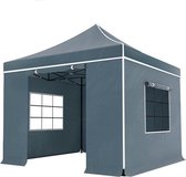 Easy up 3x3m grijs luxe partytent