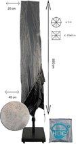 Diamond topkwaliteit parasolhoes staande parasol- 220x25x45 cm - met Rits en Trekkoord incl. Stopper- Zilvergrijze Parasolhoes waterdicht