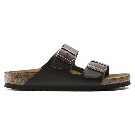 Birkenstock Arizona Slippers Bruin Leer Narrow-fit – maat 41