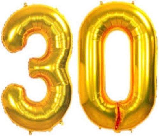 Folie ballon gouden 30