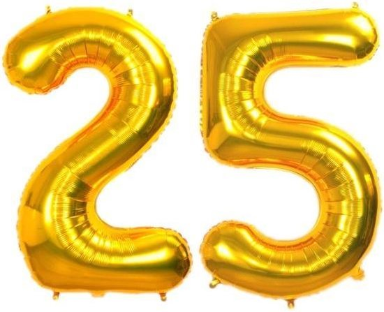 Folie ballon gouden 25