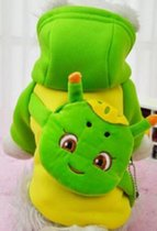 Carnavalspak voor de hond in de kleur groen / geel