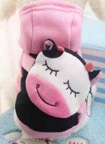 Carnavalspak voor de hond als een roze koe