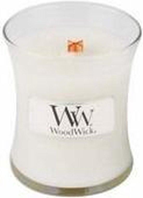 WoodWick® Linen geurkaars – 8 x 7 cm – Diverse geuren