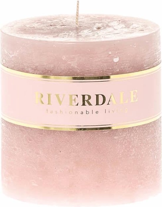 Riverdale Kaars Pillar roze 9x9cm