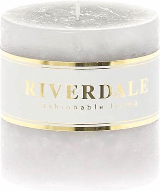 Riverdale Kaars Pillar grijs 7x7cm