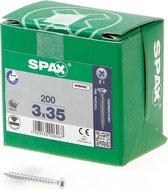 Spax Spaanplaatschroef Verzinkt PK 3.0 x 35 (200) - 200 stuks