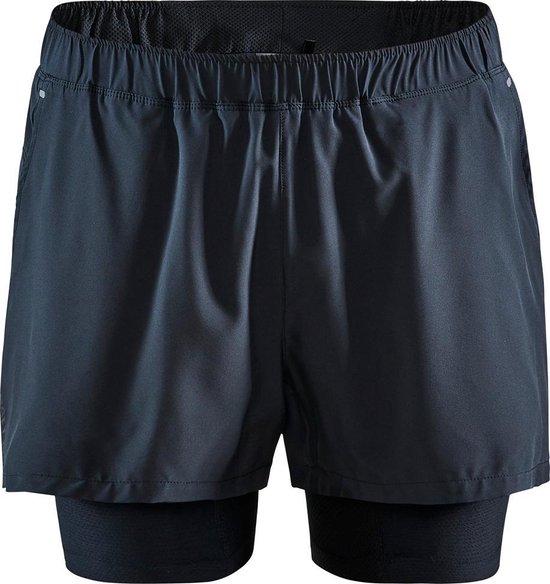 Craft Adv Essence 2-In-1 Shorts M Sportbroek Heren - Black