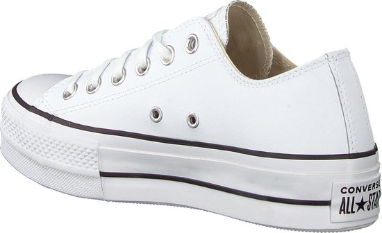 Converse - As Lift Ox - Sneaker laag gekleed - Dames - Maat 37 - Wit -  White/Black/White