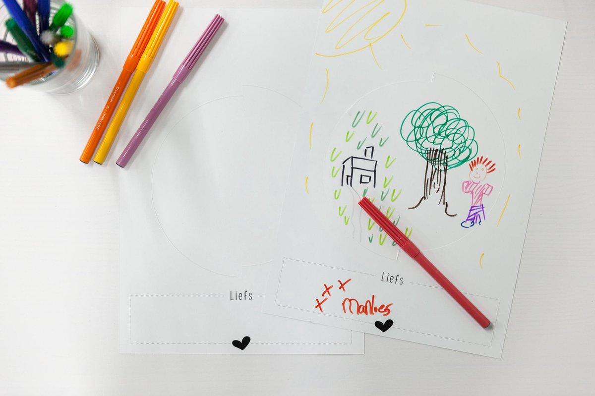 Kleurkaart Kleurplaat Met Envelop Pake En Beppe Pompebleden Bol Com