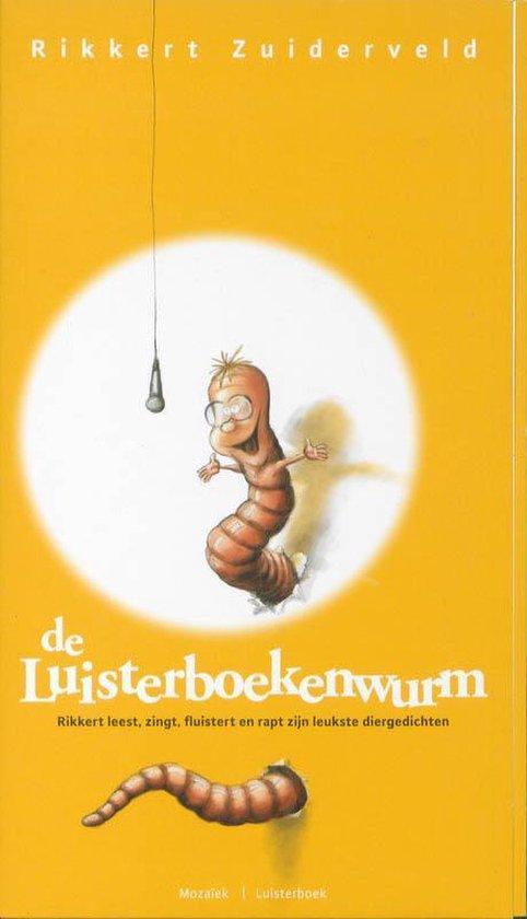 Cover van het boek 'De luisterboekenwurm' van Rikkert Zuiderveld