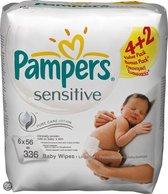 Pampers Sensitive - Doekjes Navulpak 6x56st