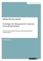 Soziologie des Managements. Coporate Social Responsibility