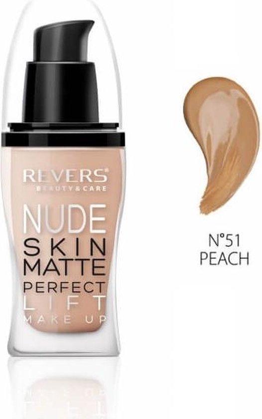 REVERS® Nude Skin Matte Perfect Lift Foundation #51 Peach 30ml.