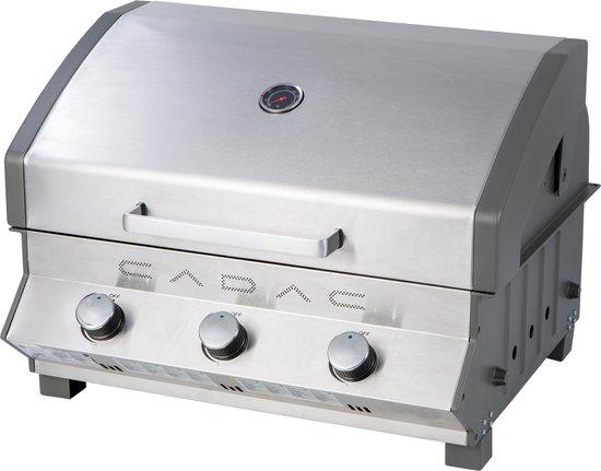 CADAC Meridian Inbouw Gasbarbecue - 3 Branders - RVS
