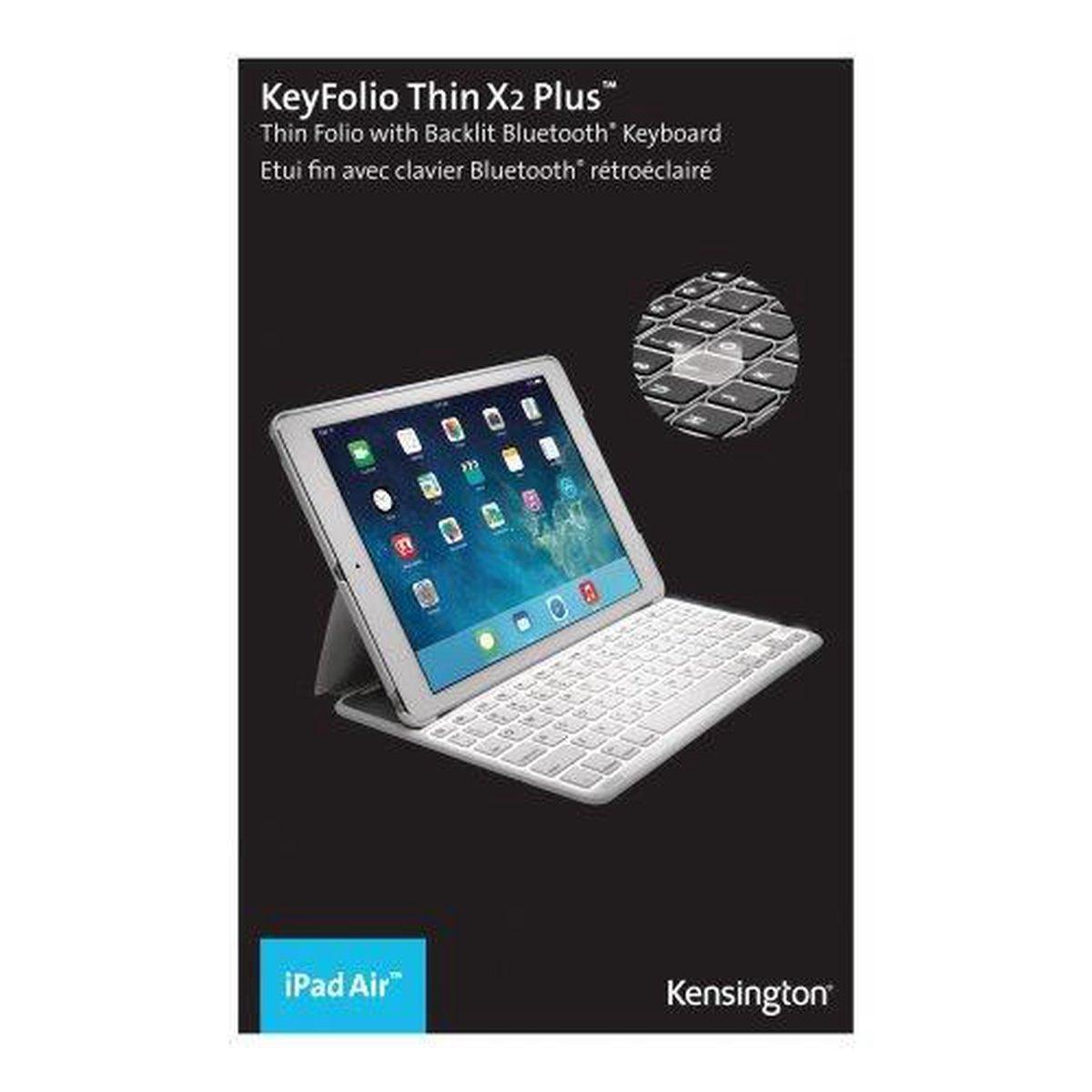 | Kensington KeyFolio Thin X2 Plus Toetsenbord en