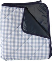 Gewatteerd picknickkleed lichtblauwe ruit