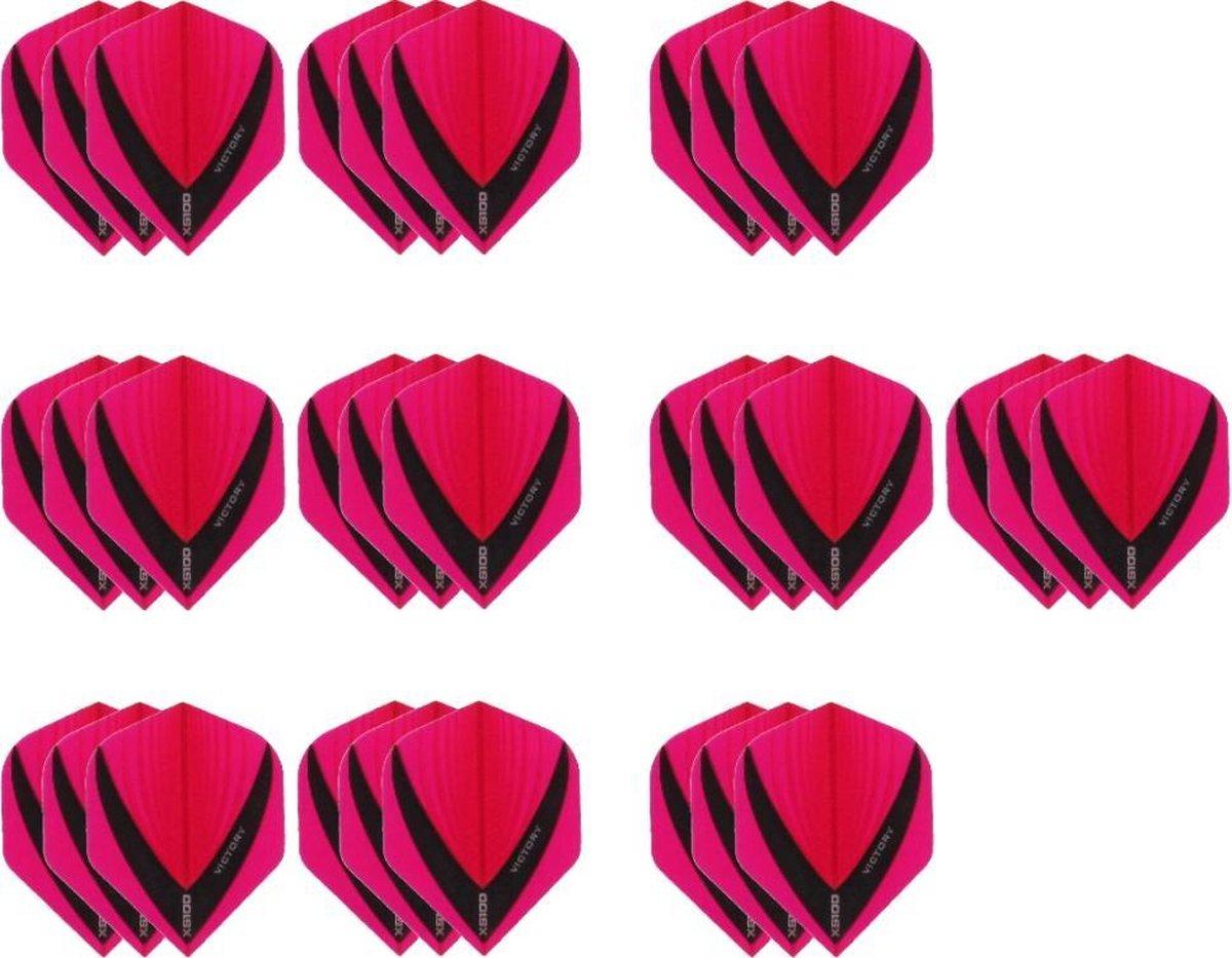 10 Sets (30 stuks) Stevige XS100 Vista - flights - Multipack - Roze