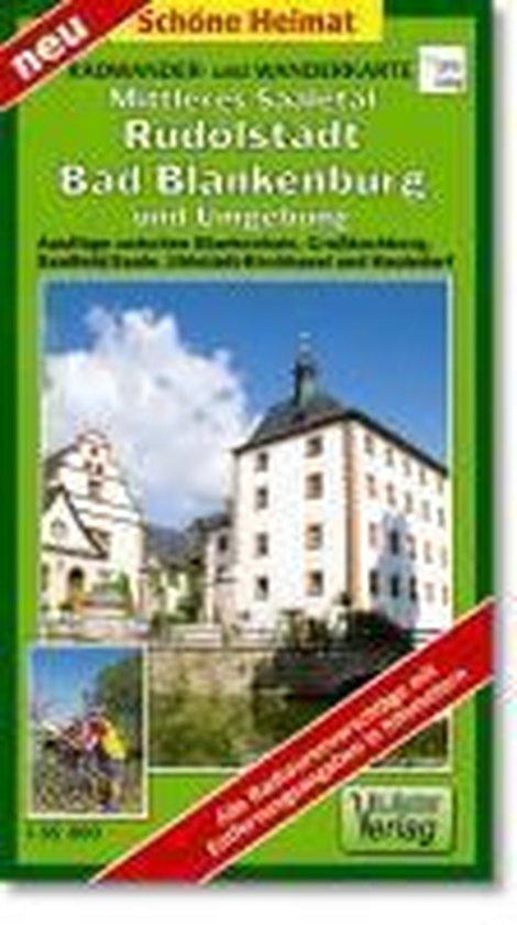 Mittleres Saaletal, Rudolstadt, Bad Blankenburg und Umgebung 1 : 35 000. Radwander- und Wanderkarte