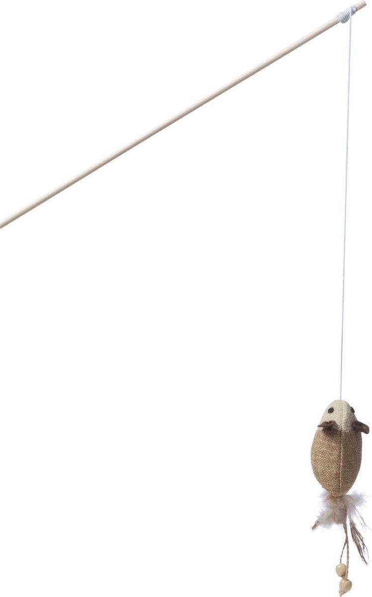 Adori Hengel Muis Met Veren - Kattenspeelgoed - Bruin - Adori
