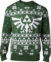 Difuzed Zelda kersttrui Maat M - Groen - Carnavalskleding