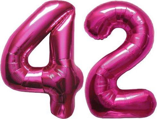 Cijfer 42 Magenta Helium 86 cm Excl. helium