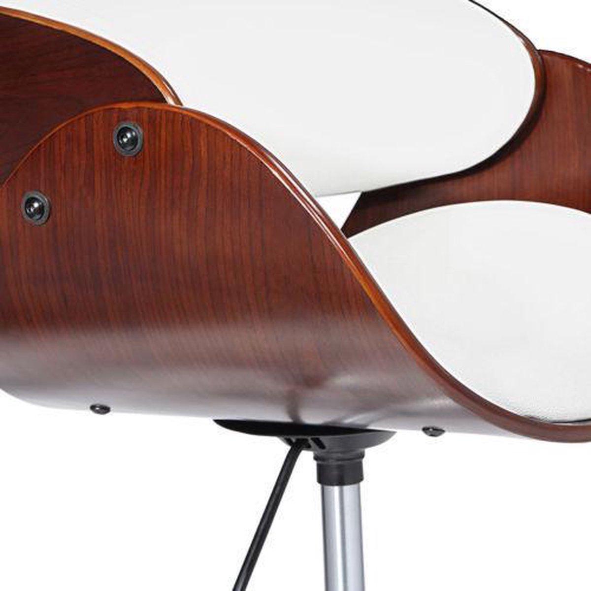 Vintage Bureaustoel De Wit.Bol Com Design Bureaustoel Retro Wit Bruin