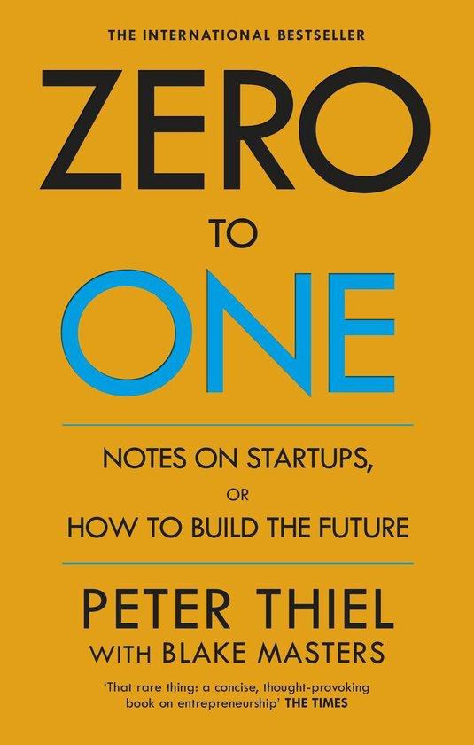 Boek cover Zero to One van Peter Thiel (Onbekend)