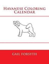Havanese Coloring Calendar